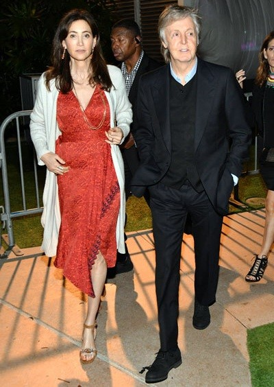Paul McCartney et Nancy il y a 9 ans