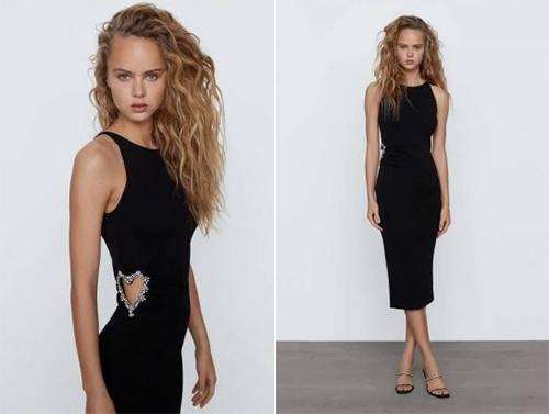 Robe en maille bijoux de Zara