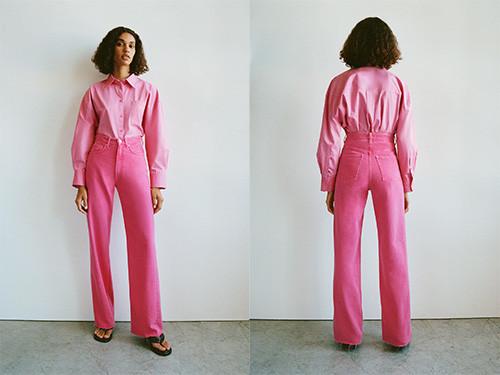 Jeans rose de Zara