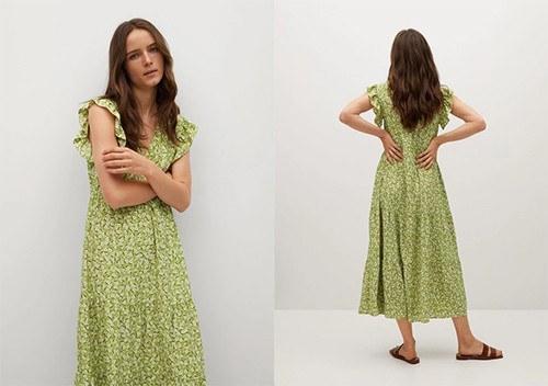 Une robe manches volantées très design
