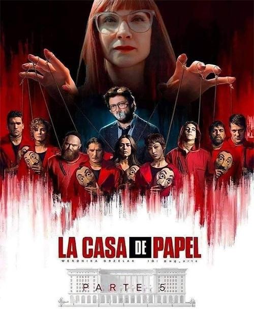 Affiche de la saison 5 de la Casa de Papel