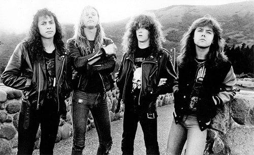 Metallica (1986) Kirk Hammett, James Hetfield, Jason Newsted, Lars Ulrich