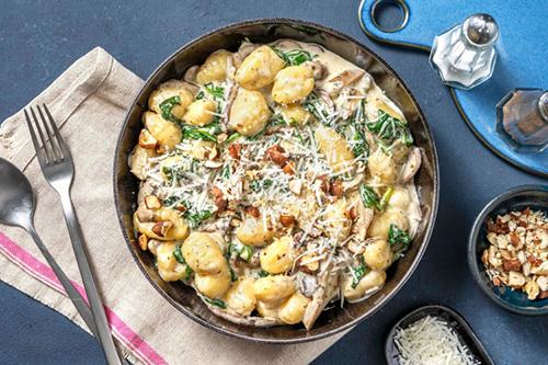 Gnocchi aux champignons et pecorino