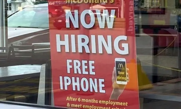 McDonald's offre un iPhonegratuit
